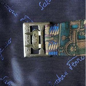 Salvatore Ferragamo Accessories - (2) Vintage SALVATORE FERRAGAMO Silk Cummerbunds